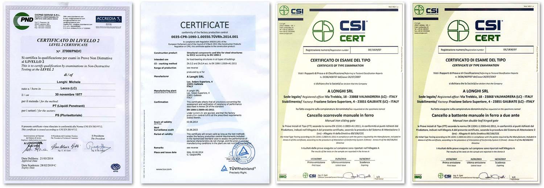 certificazioni alonghi