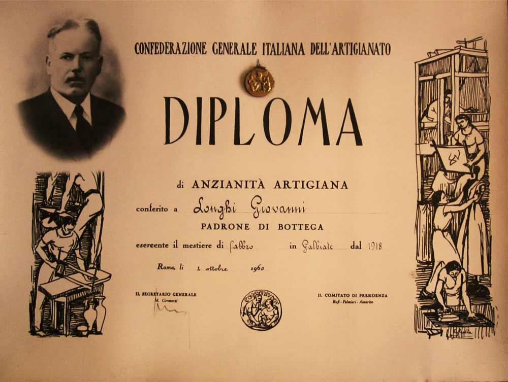 diploma confederazione italiana artigianato